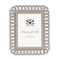 Grey Velvet Photoframe 5x7""
