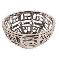 Silver Lattice Bowl 25cm