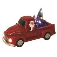 LED Santa In Truck 24x11cm