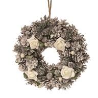 White Rose Wreath 30cm