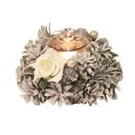 White Rose Tealight Holder 18cm