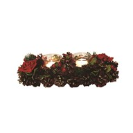 Red Rose Double Tealight Holder 30cm