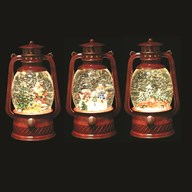 Water Spinner Lantern Red 20cm 3 Assorted