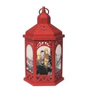 Hexagon LED Lantern Red 30cm