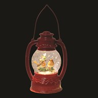 LED Robin Lantern Red