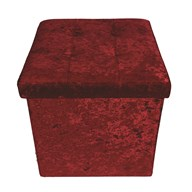 Foldable Ottoman Red 38cm