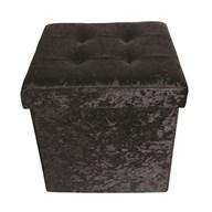 Foldable Ottoman Black 38cm