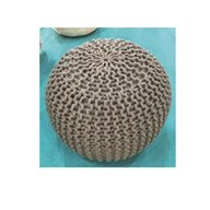 Knitted Poufe Grey 50cm