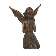 Kneeling Fairy Figurine in Bronze Finish 14cm