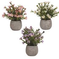 Decorative Floral Pot 3 Assorted 24cm