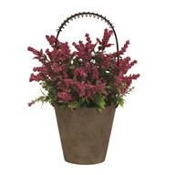 Decorative Floral Pot with Basket 29.5cm