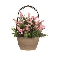 Decorative Floral Pot with Basket 22cm