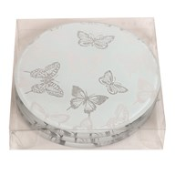Set of 4 Butterfly Round Coasters 10cm