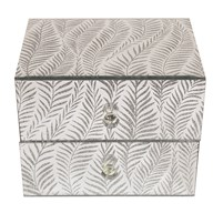 Glitter Leaf Jewellery Box 16cm