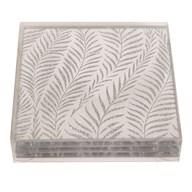 Set4 Glitter Sq Coasters 10cm