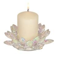Lotus Pillar Candle Hld 20cm