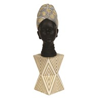 African Lady Bust 10x32cm