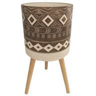 Aztec Design Planter Brown 39x40cm