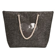 Heart Beach Bag Grey 38x40cm