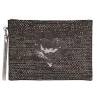 Heart Cosmetic Bag Grey 28cm