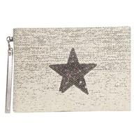 Star Cosmetic Bag Cream 20x28cm
