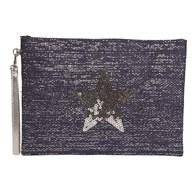 Star Cosmetic Bag Blue 20x28cm