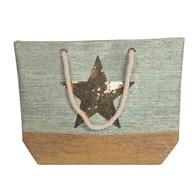 Star Beach Bag Teal 38x40cm