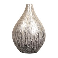 Silver & Grey Capiz Vase 41cm