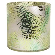 Green Leaf Glass Candle Holder 20cm