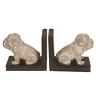 Set of 2 Dog Bookends 14cm