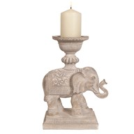 Elephant Pillar Holder 31cm