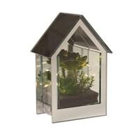 LED Floral Mirror House 20cm