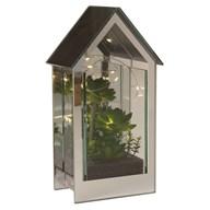 LED Floral Mirror House 25cm