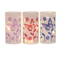 LED Butterfly Lantern 3 Assorted 15cm