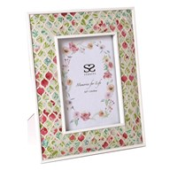 Floral Mosaic Photo Frame 5x7
