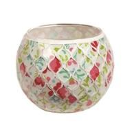 Floral Mosaic Tealight Holder 10.5cm