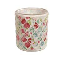 Floral Mosaic Tealight Holder 8.5cm