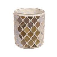 Coral Mosaic Tealight Holder 8.5cm