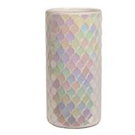 Lustre Mosaic Vase 25cm