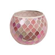 Pink Mosaic Tealight Holder 10.5cm