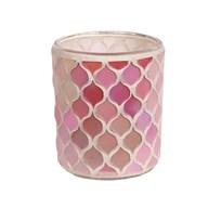 Pink Mosaic Tealight Holder 8.5cm