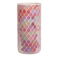 Pink Mosaic Vase 25cm