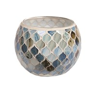 Coastal Mosaic Tealight Holder 10.5cm