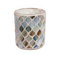 Coastal Mosaic Tealight Holder 8.5cm