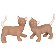 Standing Brown Cat 20x18cm 2 Assorted