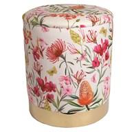 Floral Storage Pouffe