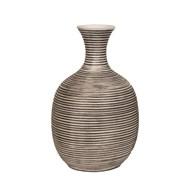 Striped Squat Vase 20.5cm