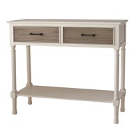 2 Drawer Console Table with Aztec Design