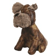 Leather Look Dog Doorstop 27cm