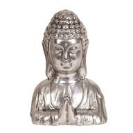 Silver Buddha Head 21cm